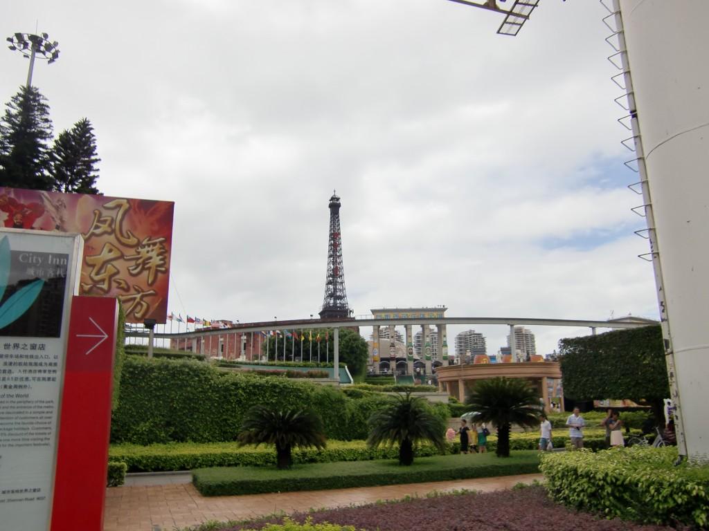 世界中の有名建造物(に似せたもの)が見られるシンセンの「世界の窓」
